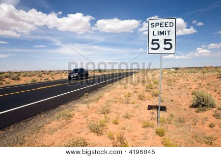 Road Sign Speed Limit 55