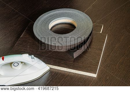 Roll Melamine Edge For Finishing Of Furniture And Smoothing-iron Used For Gluing Edges