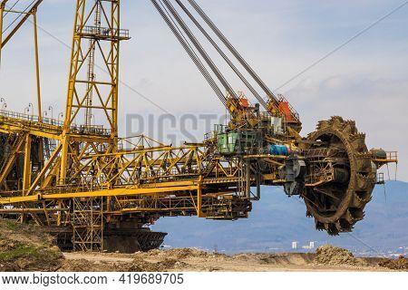 Coal mining machine near Most, Northern Bohemia, Czech Republic