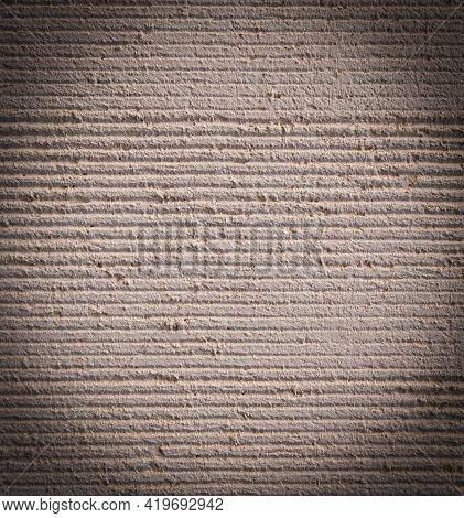 Vintage Old Red Concrete Texture. Selective Focus
