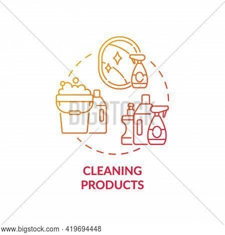 Cleaning Products Concept Icon. Indoor Air Pollution Idea Thin Line Illustration. Bleach And Ammonia