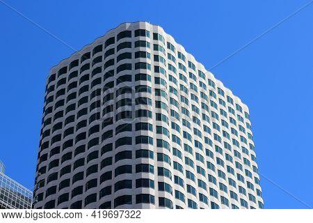 Boston, Usa - June 9, 2013: 99 High Street Building (tall One) In Boston. 99 High Street, Aka Keysto