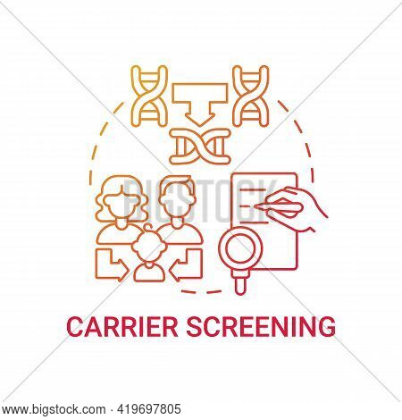 Carrier Screening Red Gradient Concept Icon. Diagnostics For Inherited Illness For Children Health.