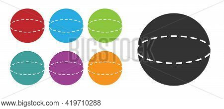 Black Geometric Figure Sphere Icon Isolated On White Background. Abstract Shape. Geometric Ornament.