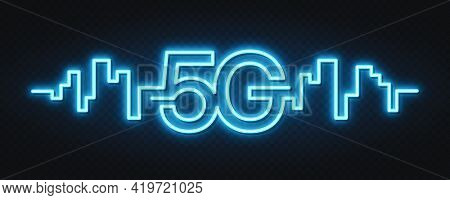 5g Network Wireless Technology. Fifth Generation Of Mobile Internet. 5g Technology, Background And N