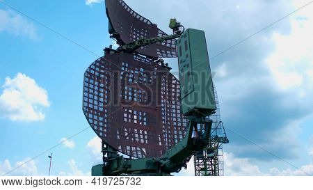 Old Military Radar Station At Open-air Exhibition. History And Military Concept