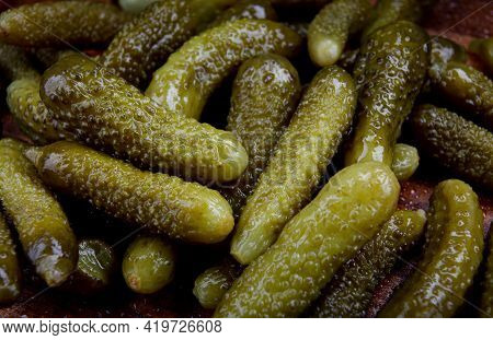 Background Of Juicy Pickled Cucumbers. Pickles . Cucumber.