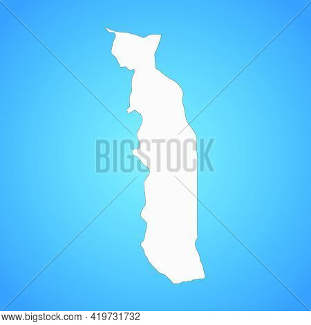 Highly Detailed Togo Map With Borders Isolated On Background. Flat Style