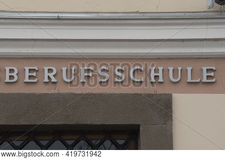 Vocational School Sign In German (berufsschule)