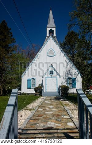 NORWALK, CONNECTICUT, USA - MAY 6, 2021: The Church of God building  at Norwalk in spring time