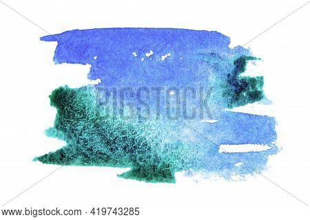 Watercolour Design. Abstract Watercolor Paint Pattern Isolated On Water Color Paper Texture. Splash