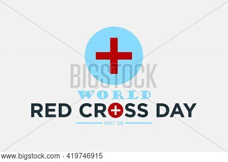 Bangladesh - May 08, 2021: World Red-cross Day Vector Background Design. Red-cross Week.