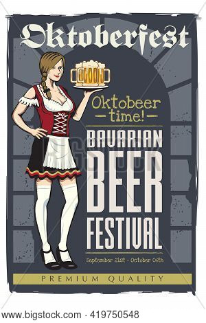 Oktoberfest Poster Vector Illustration All Layers Are Separated.