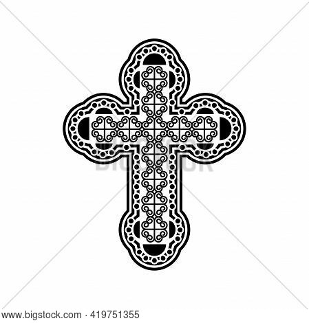 Decorative Cross As A Symbol Of Faith. Illustration Of A Decorative Cross As A Symbol Of Faith On A