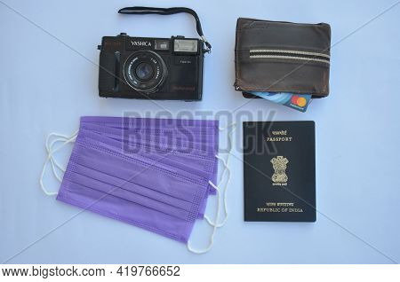 Mandi, Himachal Pradesh, India - 04 24 2021: Concept Of Travel During Covid-19 Pandemic, High Angle