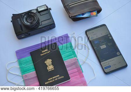 Mandi, Himachal Pradesh, India - 04 24 2021: Concept Of Travel During Coronavirus Pandemic (covid19
