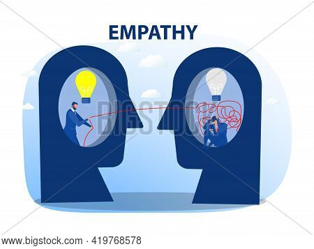 Businessman Chaos With Help, Mental Health Or Psychotherapy, Schizophrenia Concept, Cognitive Trap,