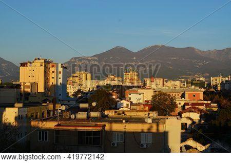 Evening On The Roof In Tirana, Albania