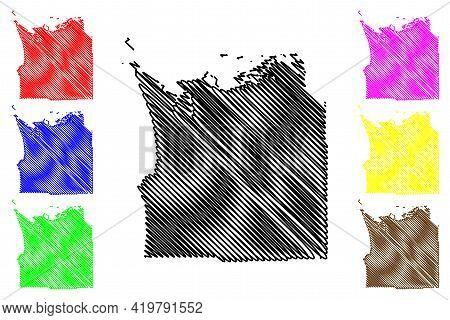 Clatsop County, Oregon State (u.s. County, United States Of America, Usa, U.s., Us) Map Vector Illus