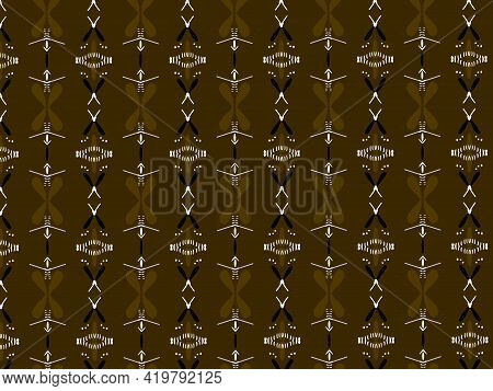 Dirty Yellow Ajrak Block Print Abstract Geometric Block Pattern For Textile Design Background Wall P