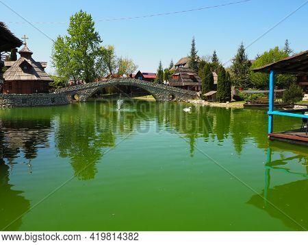 Stanisici, Bijelina, Republika Srpska, Bosnia And Herzegovina April 25, 2021 Ethno Village, Tourism