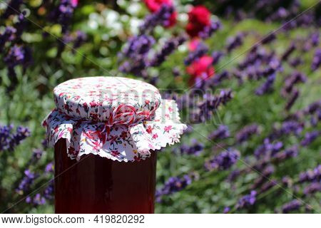 Lavender Jelly In Front Of A Lavender Field