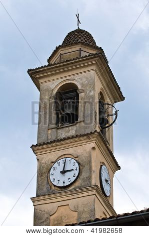 Church of St. Antonino. Travo. Emilia-Romagna. Italy.