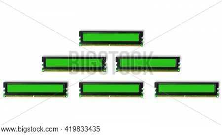 Computer Ram Random Access Memory Modules On The White Background.isolated.