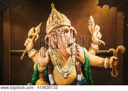 Statue Of Ganesha Also Known As Ganapati And Vinayaka, Is One Of Best-known Deities In Hindu Pantheo