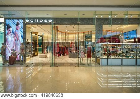 KUALA LUMPUR, MALAYSIA - CIRCA JANUARY, 2020: Eclipse storefront in Pavilion Kuala Lumpur shopping centre.