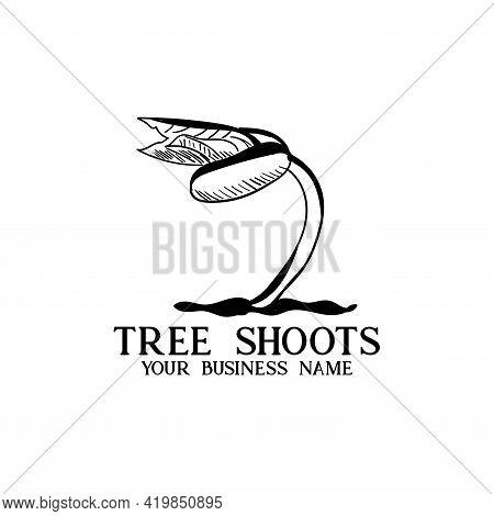 Tree Grow Up Design Vector. Illustration Grow Up Tree