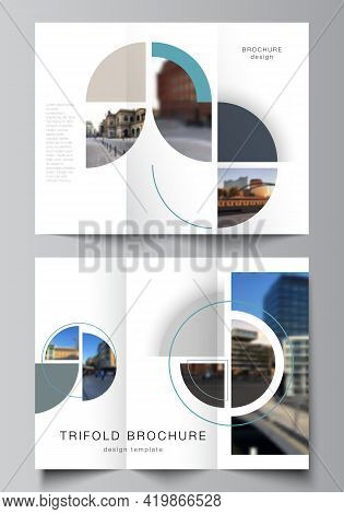Vector Layouts Of Covers Design Template For Trifold Brochure, Flyer Layout, Book Design, Brochure C