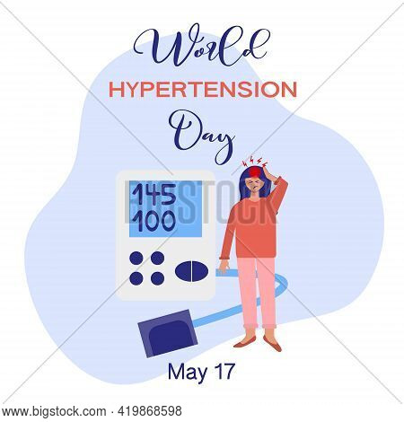 May 17 Every Year World Hypertension Day. Vector Illustration