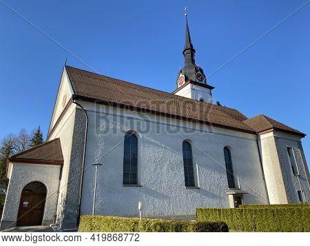 Catholic Parish Church St. Wendelin Or Katholische Pfarrkirche St. Wendelin, Schwarzenberg Lu - Cant