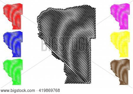 Hood River County, Oregon State (u.s. County, United States Of America, Usa, U.s., Us) Map Vector Il