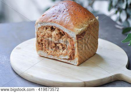 Bun Or Sesame Bun, Whole Wheat Bun With Sesame And  Perilla Bun For Serve