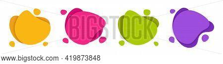 Fluid Shape Blob Vector Background. Amoeba Liquid Stain Geometric Form. Modern Graphic Element. Abst