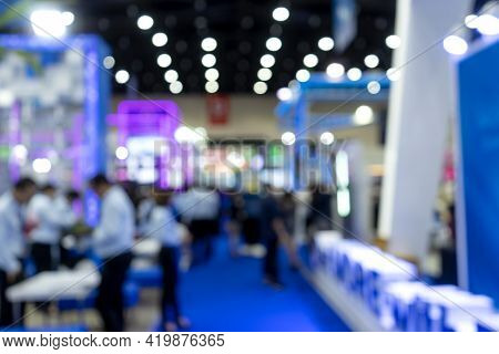 Blur Image Of  Exhibition Trade Fair  Event Convention Hall
