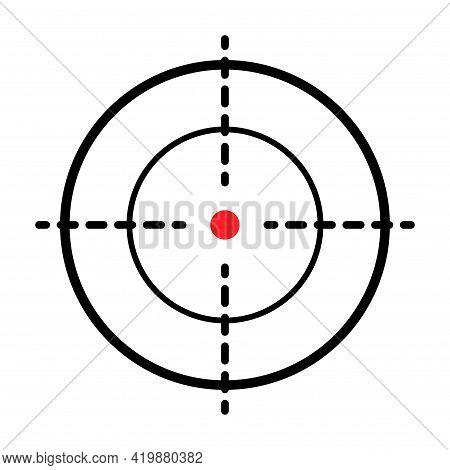 Sight Gun Vector Icon. Modern Target Illustration Of Crosshair Symbol For Web Design. Cross Mark Dot
