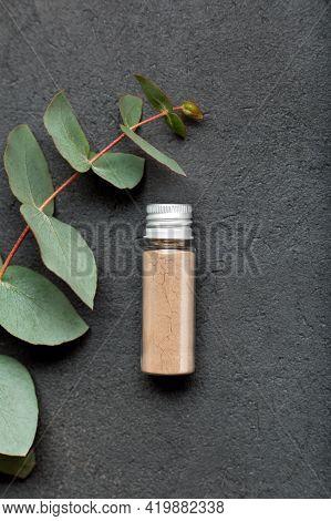 Natural Remedies Aromatherapy Powder In Glass Bottle, Organic Bio Alternative Medicine