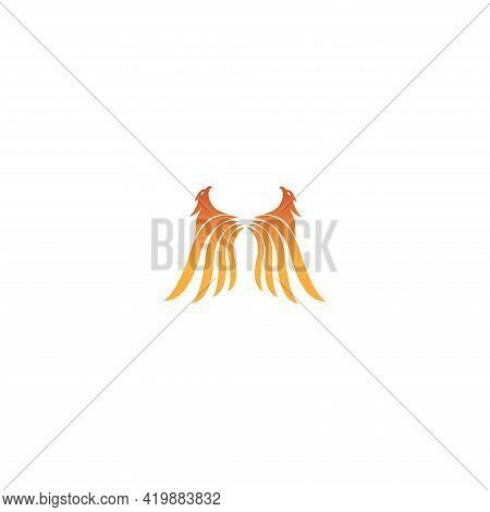 Eagle Logo With Fire Icon  Phoenix Logo Template  Fire-bird  Eagle Logo