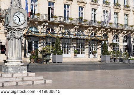 Bordeaux , Aquitaine France - 05 04 2021 : Intercontinental Bordeaux The Le Grand Hotel Luxury Hotel