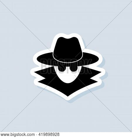 Incognito Sticker. Incognito Logo. Browse In Private. Vector On Isolated Background. Eps 10.