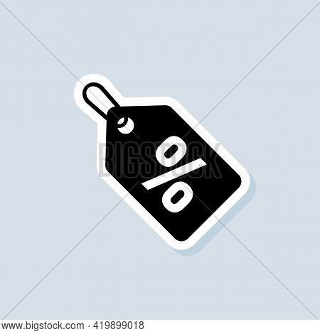 Discount Offer Sale Price Tag Sticker. Sale Price Tag Logo. Flat Label, Clearance Symbol, Special De