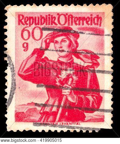 Austria Postage Stamp, Depicting Folk Costume, Year 1948