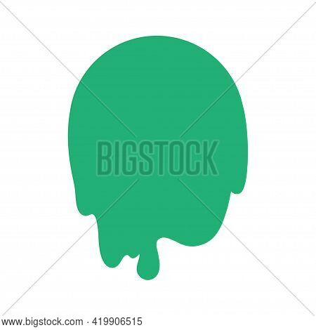 Abstract Slime Element. Geometric Slimed Object On Isolated Background