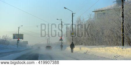 Russia, Vorkuta 14,02,2021 Vorkuta In Winter, North Of Russian Federation
