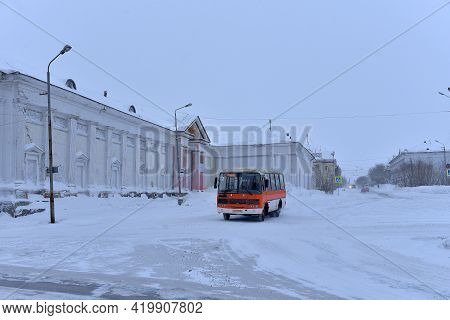 Russia, Vorkuta 14,02,2021 Vorkuta In Winter, North Of Russian Federation