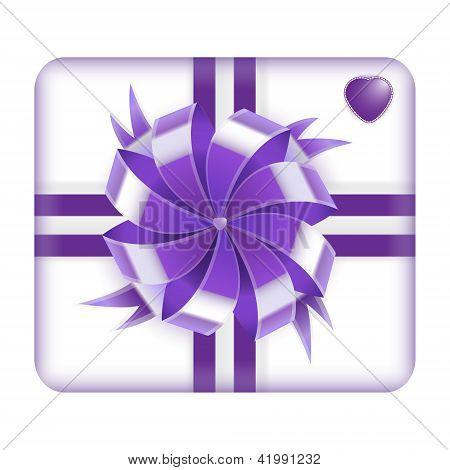 Фиолетовый Валентина подарок коробку