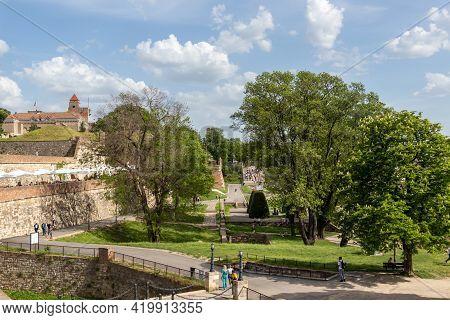 Belgrade, Serbia - May 2, 2021: Kalemegdan Fortress In Belgrade, Serbia